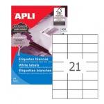 Этикетки белые Apli 03136 70x42.4мм, 10500шт
