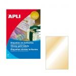 Этикетки цветные Apli 10366, 210х297мм, 10шт, золотистые
