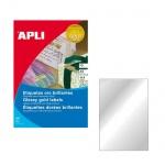 Этикетки цветные Apli 10362, 210х297мм, 10шт, серебристые