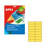Этикетки цветные Apli 1595, 105х37мм, 320шт, желтые