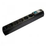 Сетевой фильтр Most HV6 6 розеток, черный, 5м