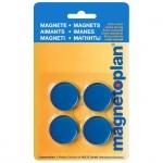 Магниты Magnetoplan Standart d=30х8мм, 4шт/уп, синие