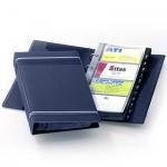 Визитница Durable Visifix на 200 визиток, синяя, 255х145мм, ПВХ, разделитель A-Z, 2385-07