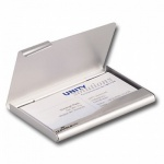 Визитница Durable Business Card Box на 20 визиток, серебристая, 90х55мм, металл, 2415-23
