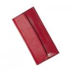 Портмоне женское Befler Ящерица 190х95мм, красное, натуральная кожа