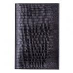 Обложка для паспорта Befler Ящерица, натуральная кожа, черный