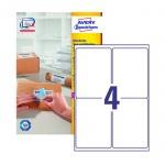Этикетки адресные Avery Zweckform QuickPeel L7169-100, белые, 99.1х139мм, 4шт на листе А4, 100 листов, 400шт, для всех видов печати
