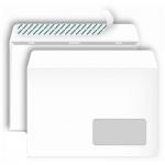 Конверт почтовый Bong С5 белый, 162х229мм, 80г/м2, 1000шт, стрип, прав. окно