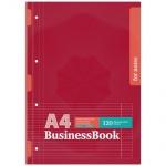 Блокнот Офис3 бордовый, А4, 60 листов, в линейку, на скрепке, картон