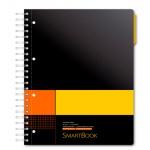Тетрадь Smartbook желто-оранжевая, А5, 120 листов, в клетку, на спирали, пластик