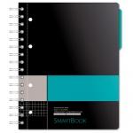 Тетрадь Smartbook серо-бирюзовая, А5, 120 листов, в клетку, на спирали, пластик