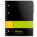 Тетрадь Smartbook желто-зеленая, А5, 120 листов, в линейку, на спирали, пластик