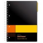 Тетрадь Smartbook желто-оранжевая, А4, 120 листов, в клетку, на спирали, пластик