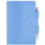 Блокнот Arwey Idea-box голубой, А6, 104 листа, нелинованный, на сшивке, искусственная кожа, с магнит