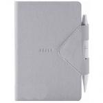 Блокнот Arwey Idea-box серый, А6, 104 листа, нелинованный, на сшивке, искусственная кожа, с магнитны