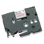 Картридж для принтера этикеток Brother TZ/TZe-232, 12мм х 8м, белый с красными буквами, пластик