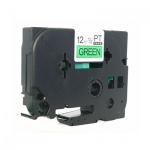 Картридж для принтера этикеток Brother TZ-731, 12мм х 8м, зеленый с черными буквами, пластик
