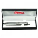 Набор пишущих принадлежностей Pentel Sterling шариковая ручка, механический карандаш, металлический корпус