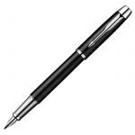Ручка перьевая Parker IM Premium F222 F, синяя, матовый черный корпус
