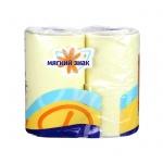 Туалетная бумага Мягкий Знак Deluxe без аромата, желтая, 2 слоя, 4 рулона, 175 листов, 21.88м