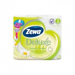 Туалетная бумага Zewa Deluxe, 3 слоя, 4 рулона, 150 листов, 21м, цветы