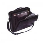 Портфель Алекс Саммит 360х270х80мм, черный, искусственная кожа