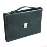 Портфель Алекс Профи 400х370х270мм, черный, искусственная кожа