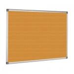 Доска пробковая Bi-Office 90х120см, коричневая, алюминиевая рама