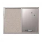 Доска информационная Bi-Office MX04331608 45х60см, жемчужная, текстильная/ магнитная маркерная, деревянная рама