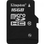 ����� ������ Kingston MicroSDHC, 16Gb, 10��/�