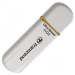 Флеш-накопитель Transcend JetFlash 620 64Gb, 32/16 мб/с, бело-оранжевый