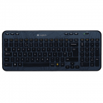 Клавиатура беспроводная USB Logitech Wireless Keyboard K360, черная