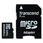 Карта памяти Transcend micro SDHC, 16Gb, 20мб/с, с адаптером SD