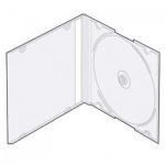 Бокс для CD/DVD Vs CD-box Slim/5 прозрачный, на 1 диск, 5 шт/уп