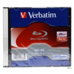 Диск BD-RE Verbatim JC 25Gb, 2х, Jewel Box, 1шт/уп