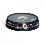 Диск CD-R Tdk 700Mb, 52x, Cake Box, 10шт
