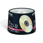 Диск CD-R Tdk 700Mb, 52x, Cake Box, 50шт/уп