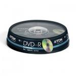 Диск DVD-R Tdk 4.7Gb, 16х, Cake Box, 10шт/уп