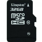����� ������ Kingston MicroSDHC, 32Gb, 10��/�