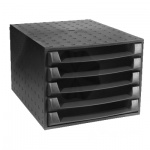 Бокс для бумаг Exacompta 387х284х218мм, 5 ящиков, черный, 221014D