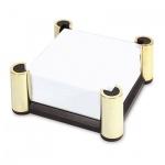 Блок для записей непроклеенный в подставке Lerche Black&Gold белый в черно-золотой подставке, 74417