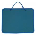 Папка-портфель 270х350х42мм, синий, пластик