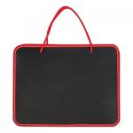 Папка-портфель 270х350х42мм, черно-красный, пластик