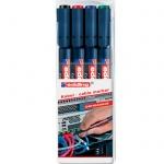 Маркер для кабеля Edding 8407 набор 4 цвета, 0.3мм, пулевидный наконечник