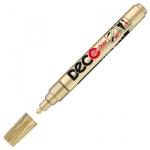 Маркер лаковый Ico Deco, 2-4мм, круглый наконечник, золотой