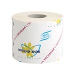 Туалетная бумага Мягкий Знак без аромата, белая, 1 слой, 1 рулон, 432 листа, 54м