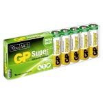 Батарейка Gp Super AA/LR6, 1.5В, алкалиновые, 10шт/уп