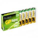 Батарейка Gp Super AAA/LR03, 1.5В, алкалиновая, 10шт/уп