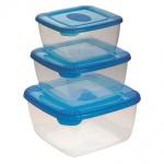 Набор контейнеров Polar 2.5л+1л+0.5л, пластик, с плотно прилегающей крышкой, 3шт/уп