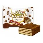 Конфеты Рот Фронт Коровка вафельная в шоколадной глазури, 250г